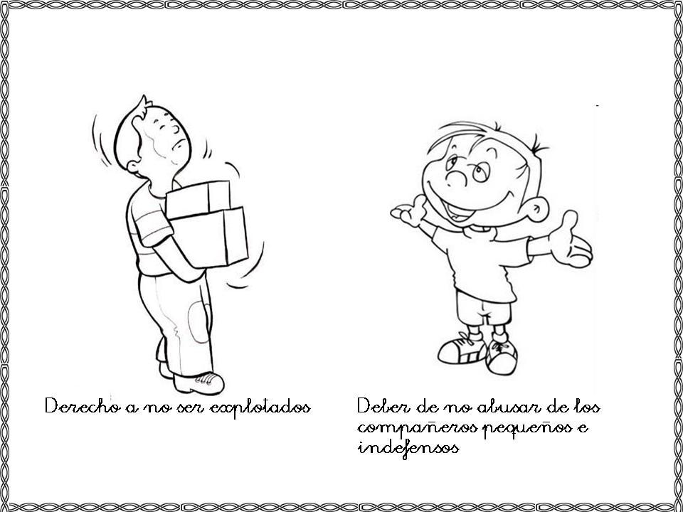 Dibujos para colorear sobre los derechos y deberes de los ni ...