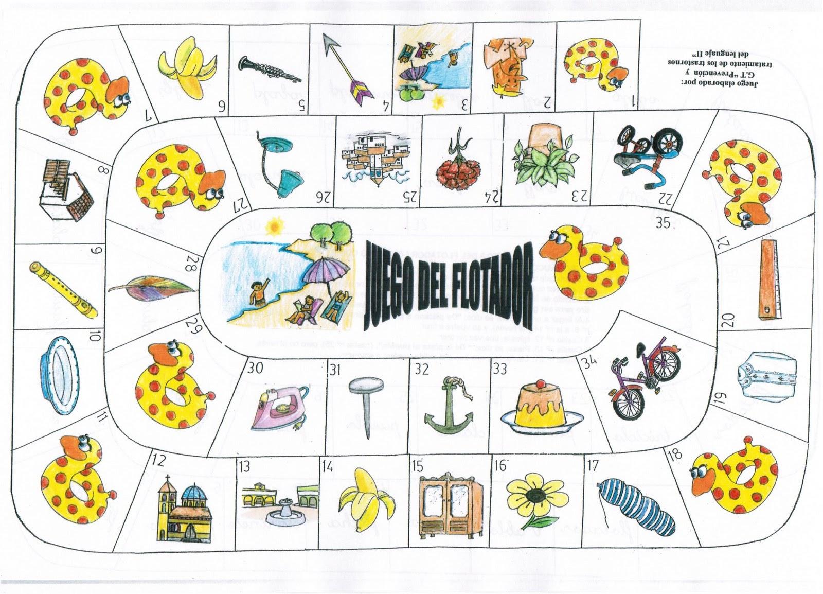 Recursos de lenguaje: Juego de la oca por fonemas