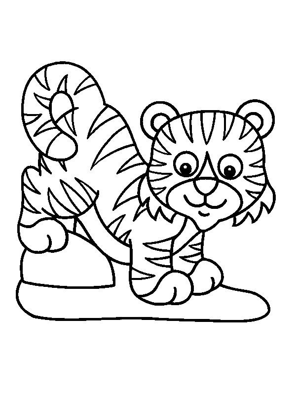 Perfecto Lindo Bebé Jungla Animales Para Colorear Fotos - Dibujos ...