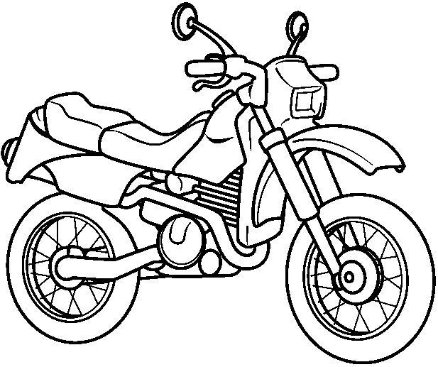 Imagenes para colorear de moto - Imagui