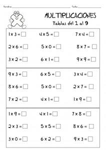 Ejercicios Para Repasar Las Tablas De Multiplicar Escuela En La