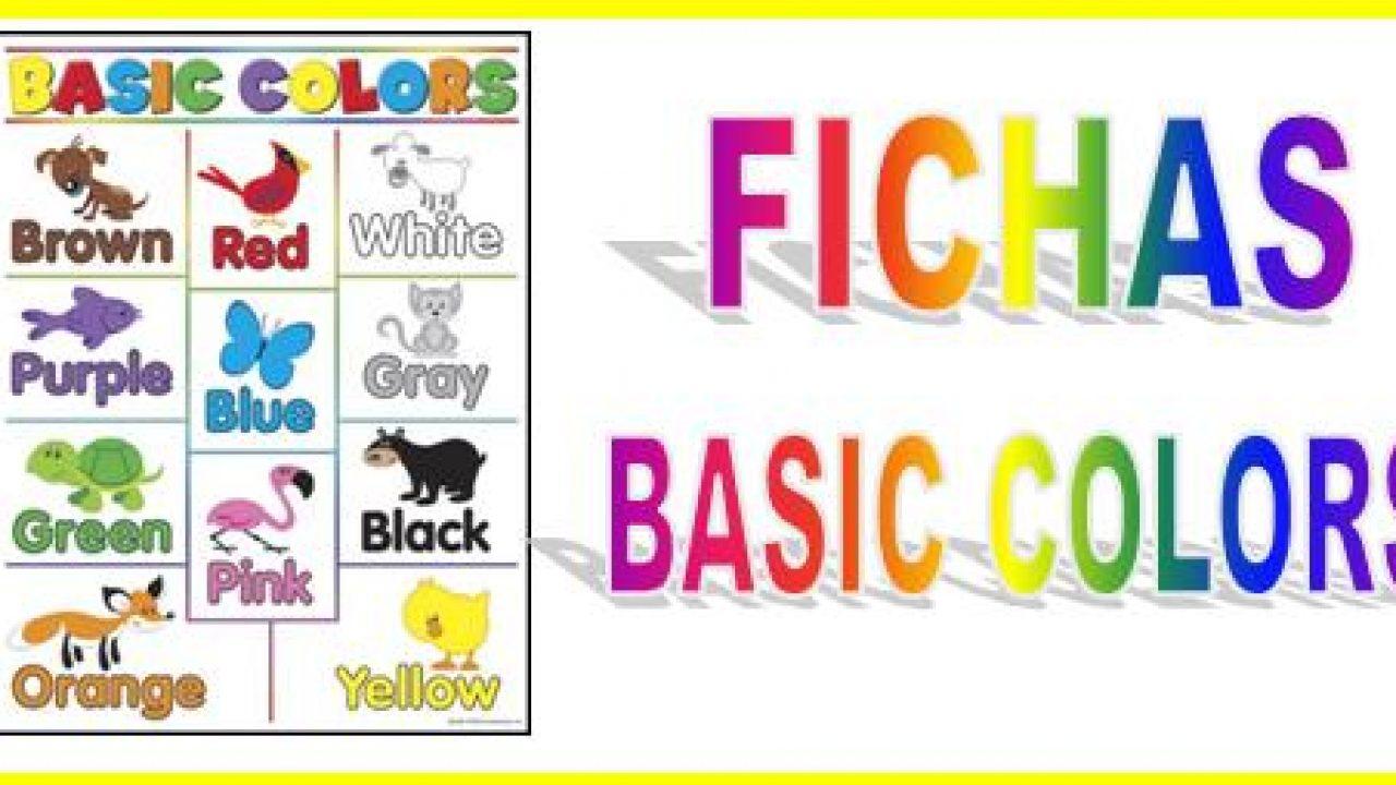 Colores En Inglés Web Del Maestro