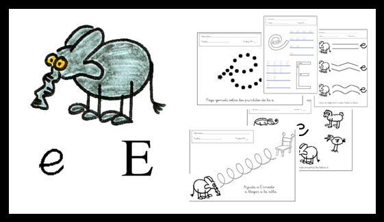 actividades letra E