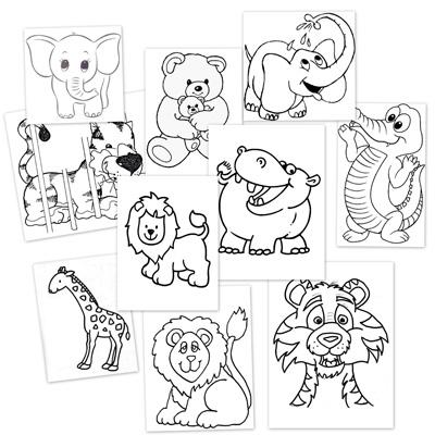 dibujos para colorear, animales de la selva, animales salvajes