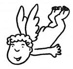 angel032 150x141 Imagenes para colorear y crear un Belen casero manualidades dibujos para colorear belen recortable belen para colorear actividades niños