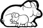 cerdos2 150x98 Imagenes para colorear y crear un Belen casero manualidades dibujos para colorear belen recortable belen para colorear actividades niños