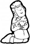 pastor con gallina2 104x150 Imagenes para colorear y crear un Belen casero manualidades dibujos para colorear belen recortable belen para colorear actividades niños