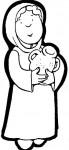 pastora cantaro2 69x150 Imagenes para colorear y crear un Belen casero manualidades dibujos para colorear belen recortable belen para colorear actividades niños