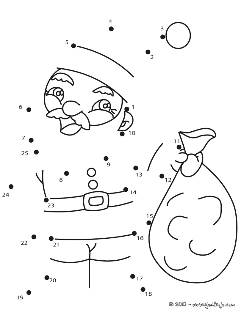 Dibujos navideños para unir puntos