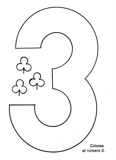 Recursos para el aula: Fichas para trabajar el número 3