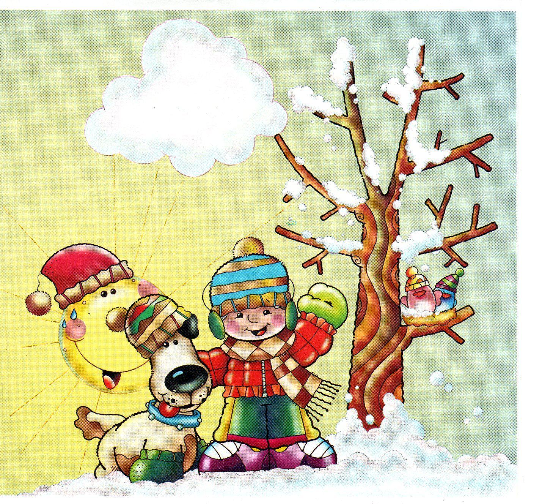 Estaciones del a o fichas para trabajar el invierno - Dibujos en la pared infantiles ...