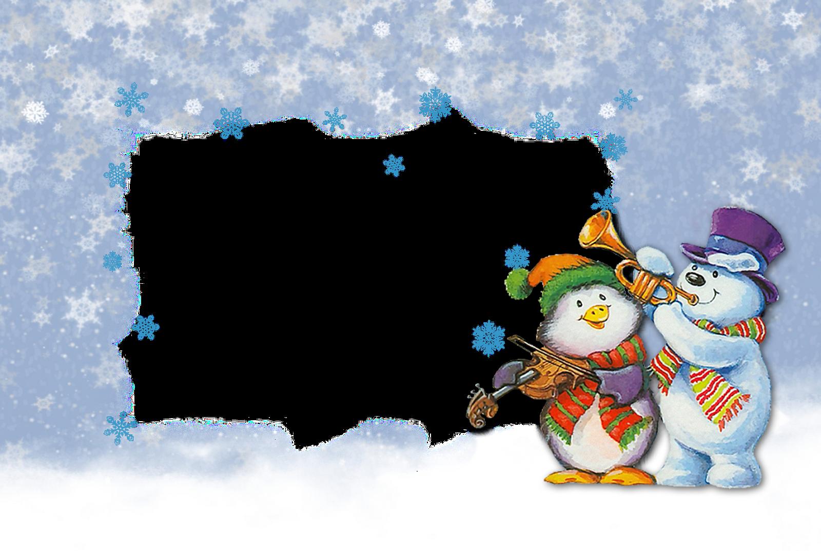 Зимний музыкальный рисунок детский 3