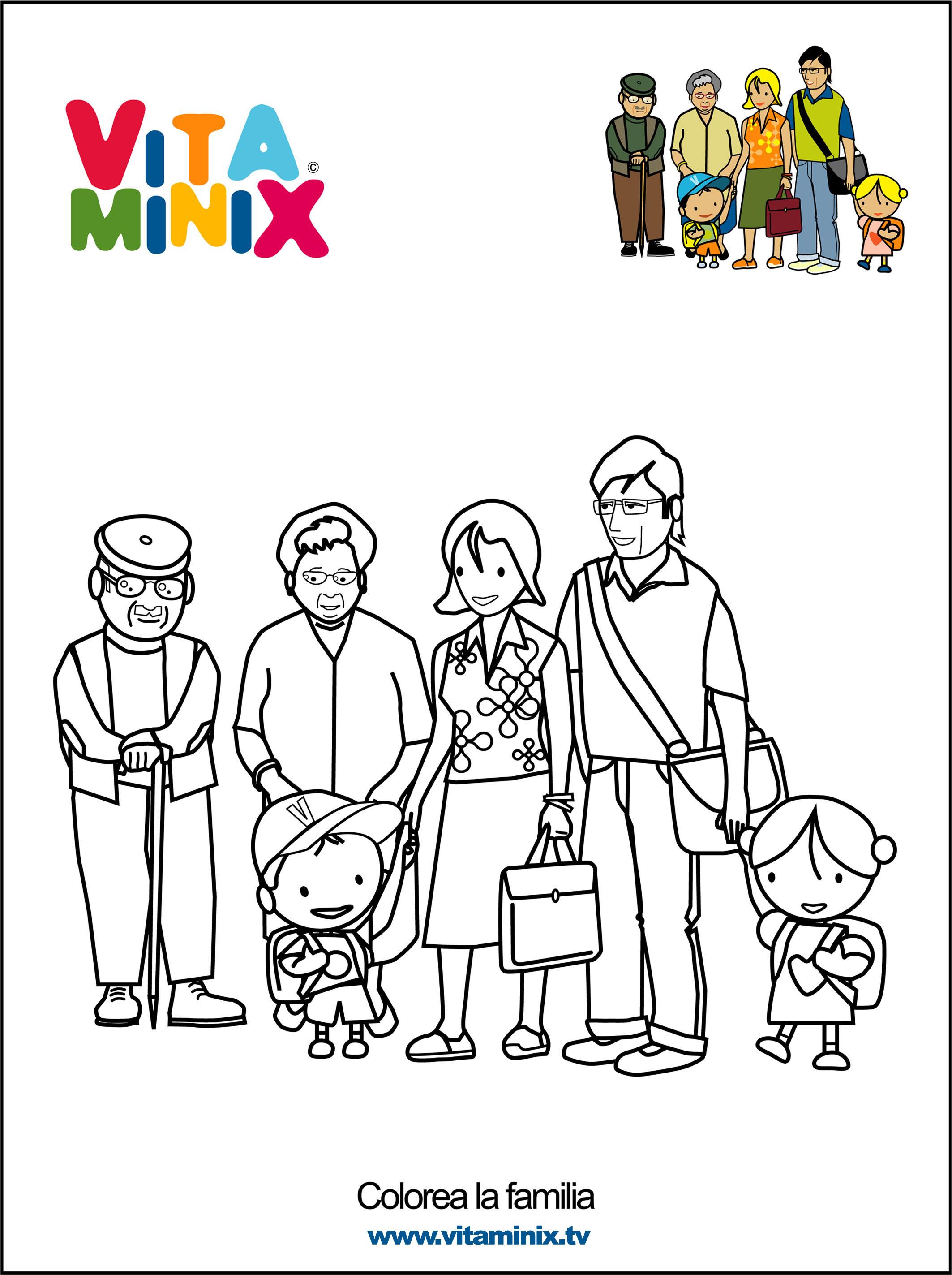Recursos para el aula trabajamos la familia - Familias en blanco y negro ...