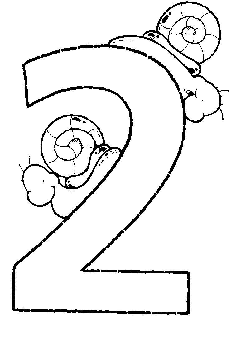 del numero 2 para imprimir
