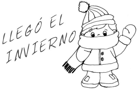 Dibujo del invierno para imprimir - Imagui