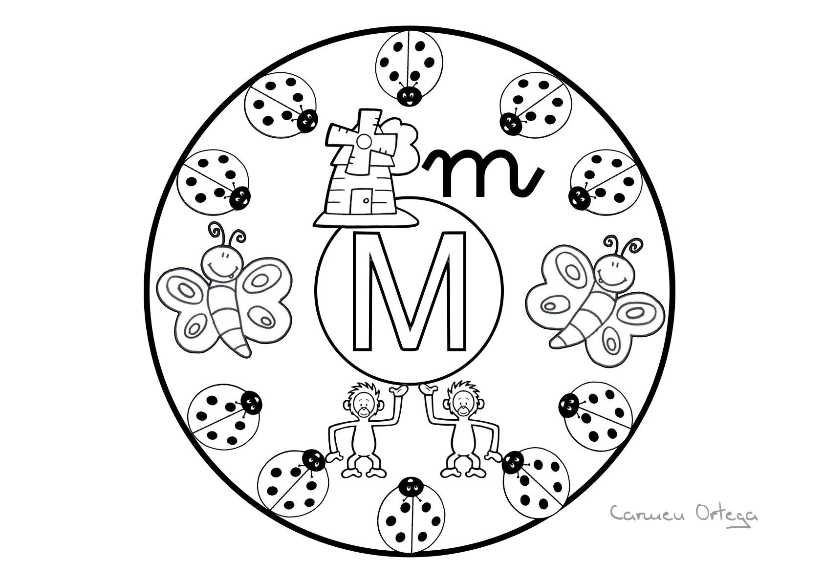 Mandalas con las letras del abecedario - Escuela en la nube