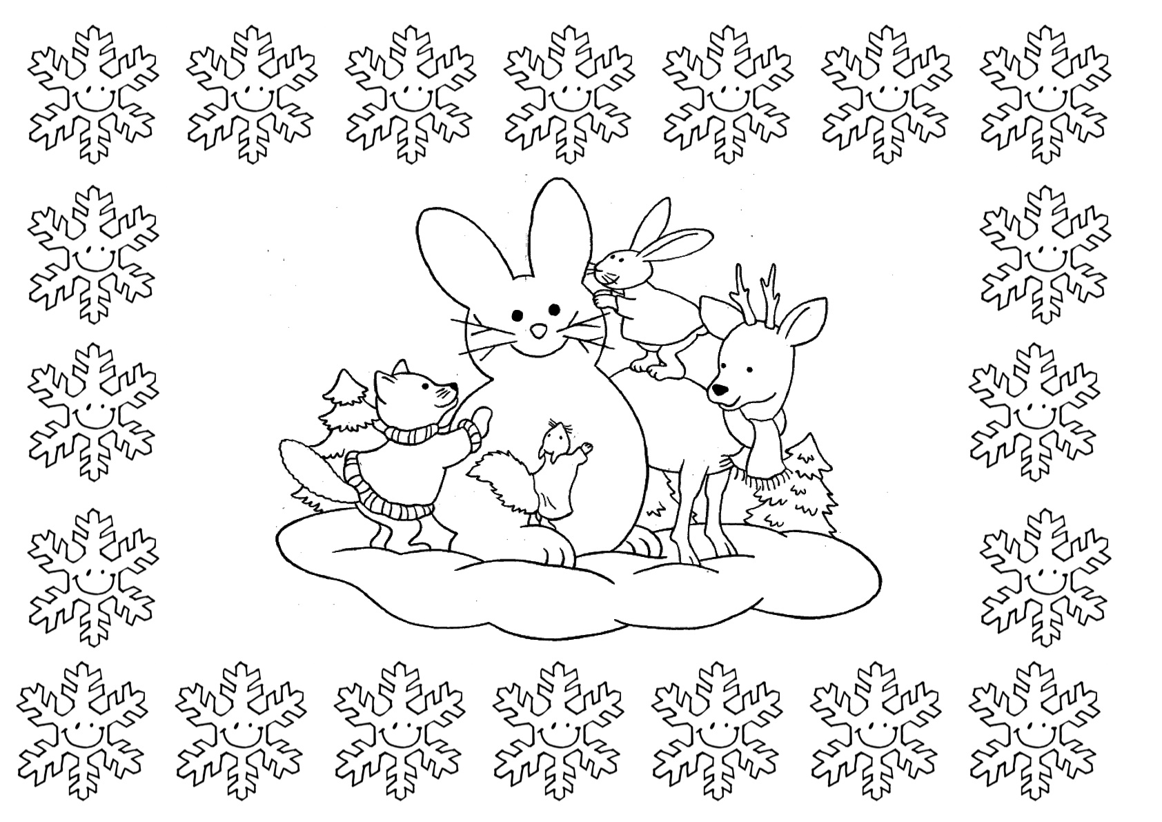 Cenefa invierno escuela en la nube recursos para infantil y primaria - Cenefas para ninos ...