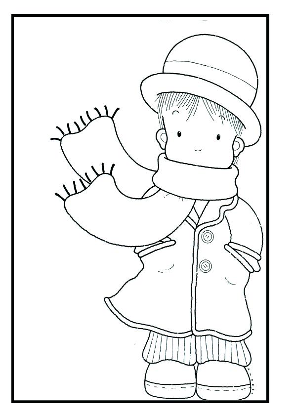 Perfecto Hojas Para Colorear De Invierno Para Niños Imagen - Dibujos ...