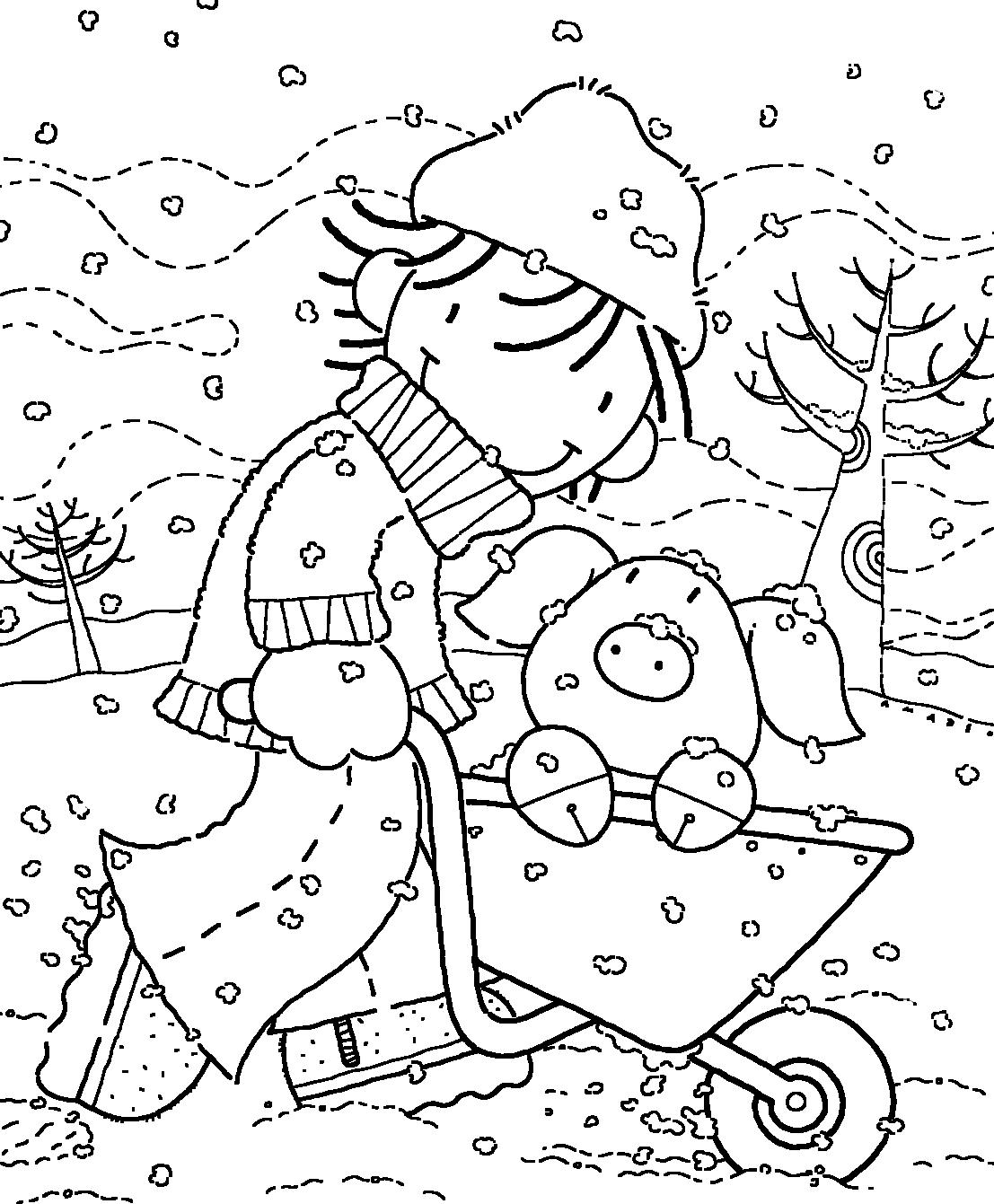 Obtener Dibujos De Invierno Para Colorear Infantil