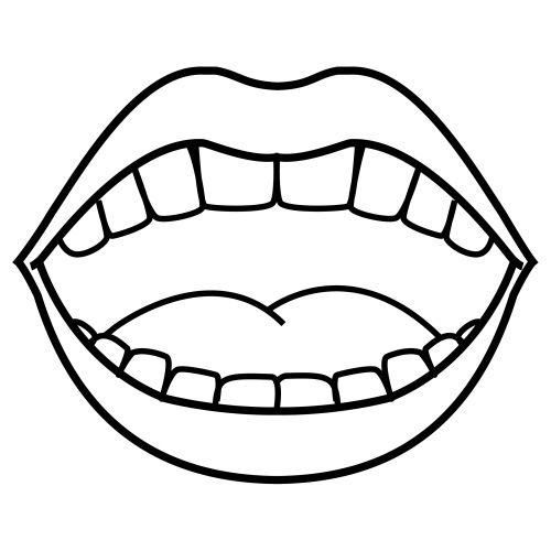 Dibujo de boca abierta  Imagui