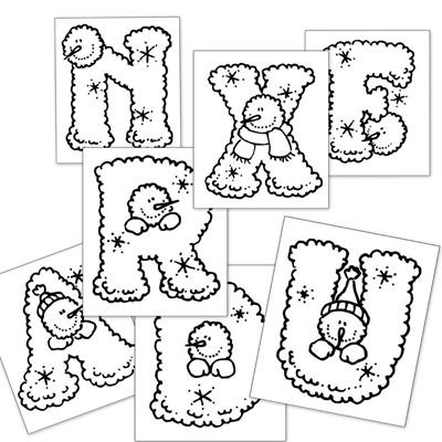 dibujos para colorear, letras colorear, abecedario colorear
