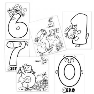 numeros, dibujos para colorear, numeros para colorear
