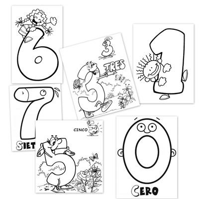 numeros, dibujos para colorear, números para colorear