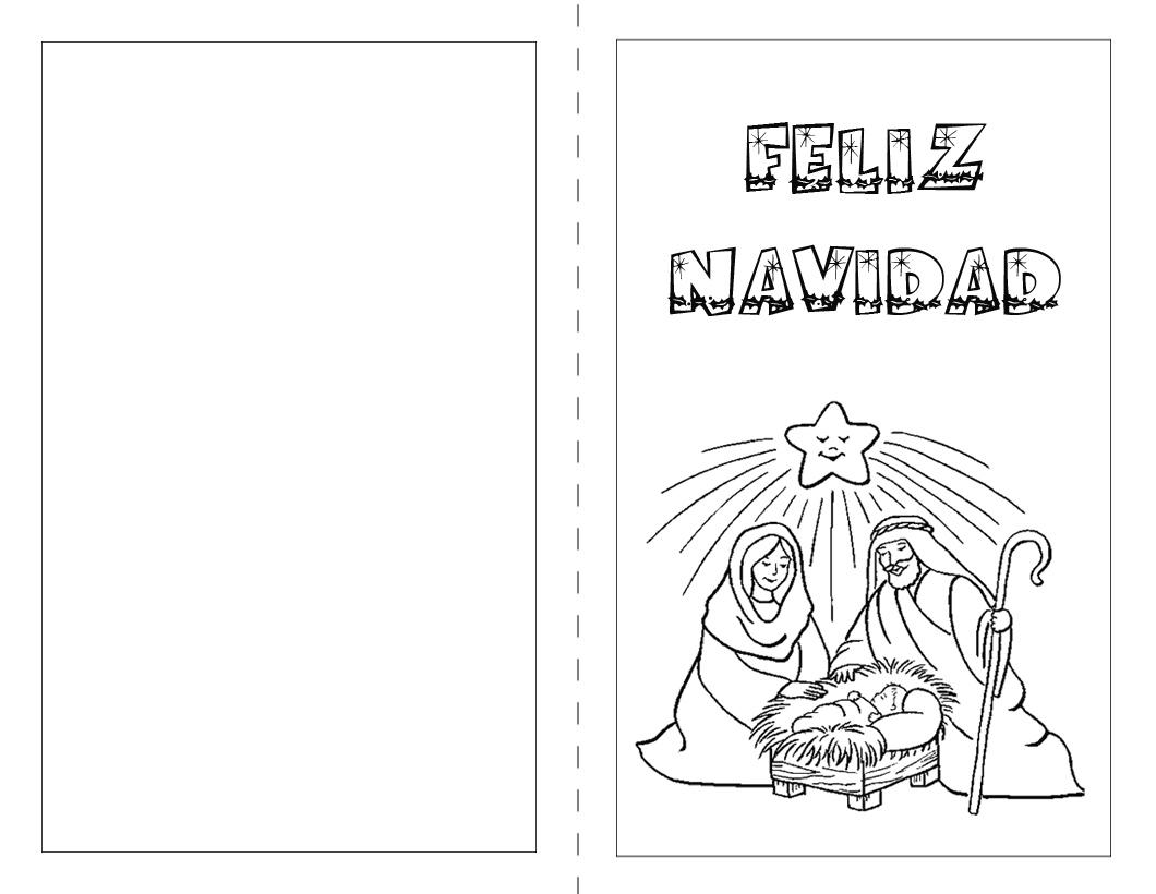 Web - Dibujos del portal de belen para colorear ...