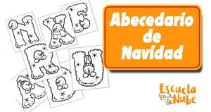 abecedario de navidad, letras de navidad