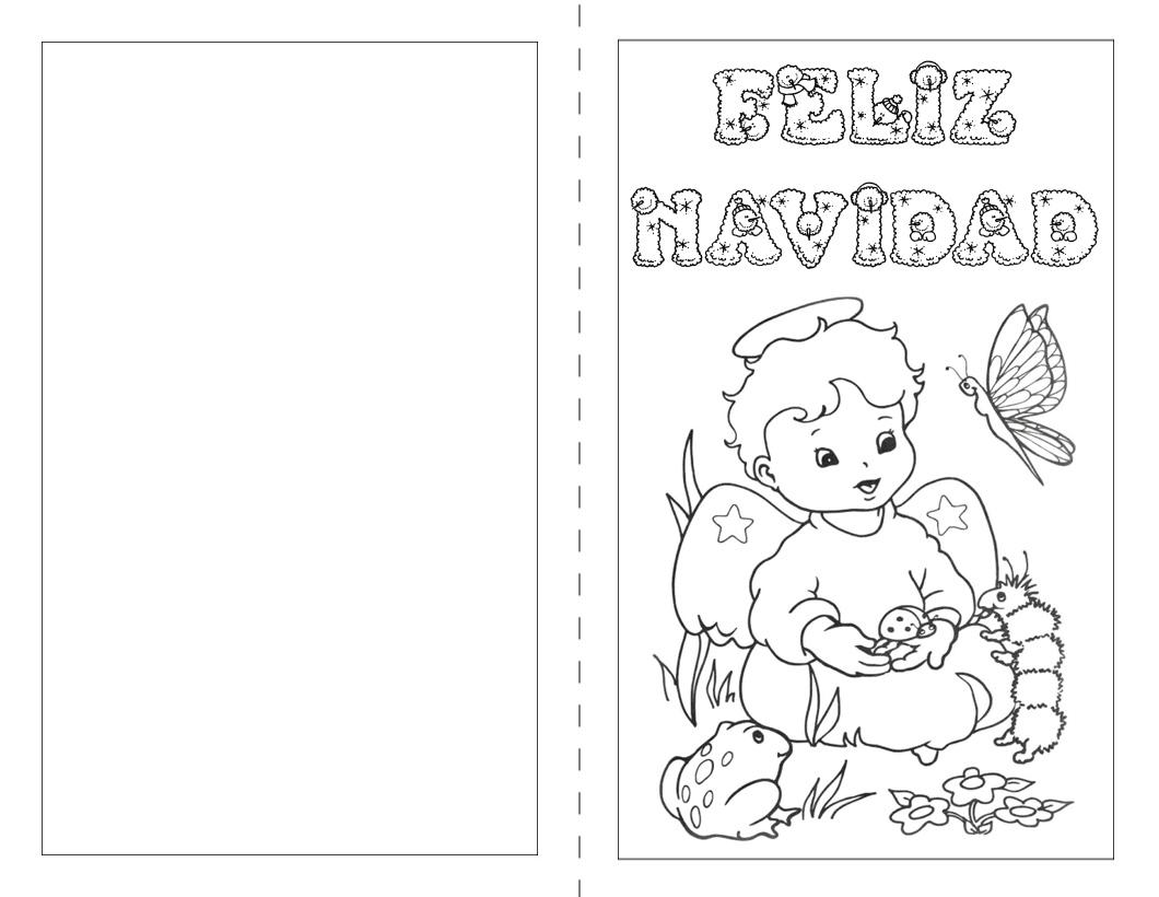 Christmas de navidad para colorear for Dibujos para tarjetas navidenas