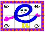 e 150x107 Recursos para el aula: Puzzle de letras recursos para el aula recursos maestros recursos didacticos letras lengua escuela en la nube educacion infantil blog educativo aprender abecedario abecedario
