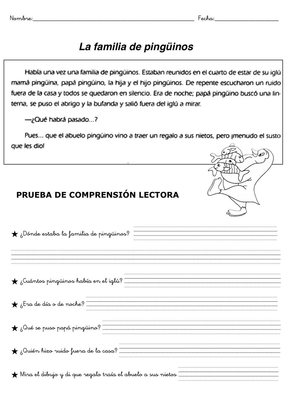 Plantillas de comprensión lectora para niños de primaria. Descarga ...