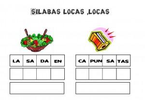 silabas, vocabulario, palabras, ejercicios de lengua, fichas de lengua