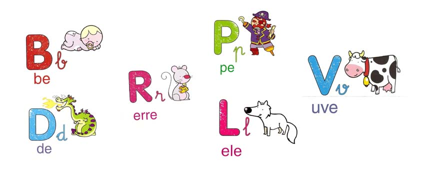 abecedario, letras, imagenes