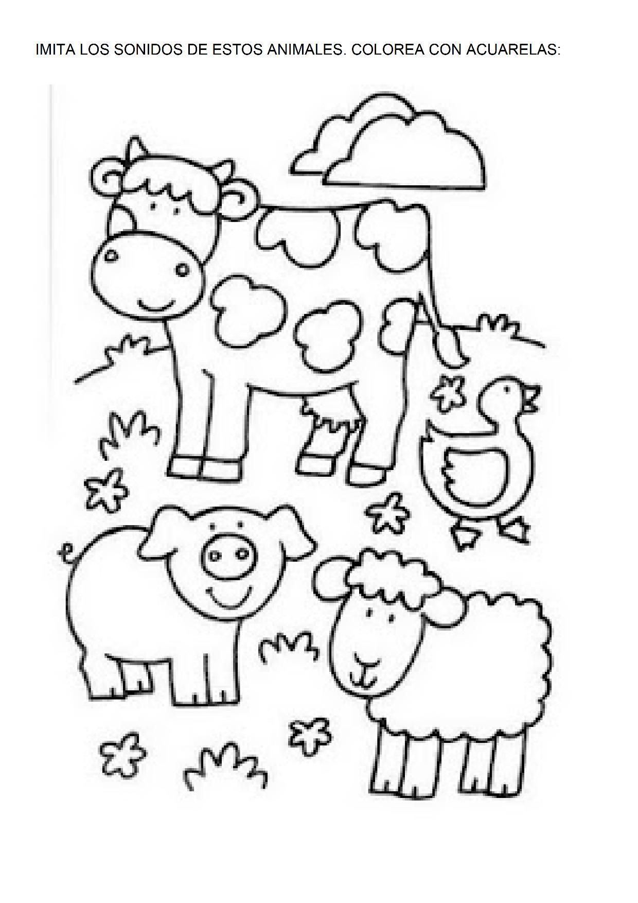 Vistoso Hojas Para Colorear De Granja Elaboración - Dibujos Para ...