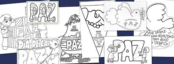 Recursos educativos: Dibujos para colorear en el día de la Paz ...