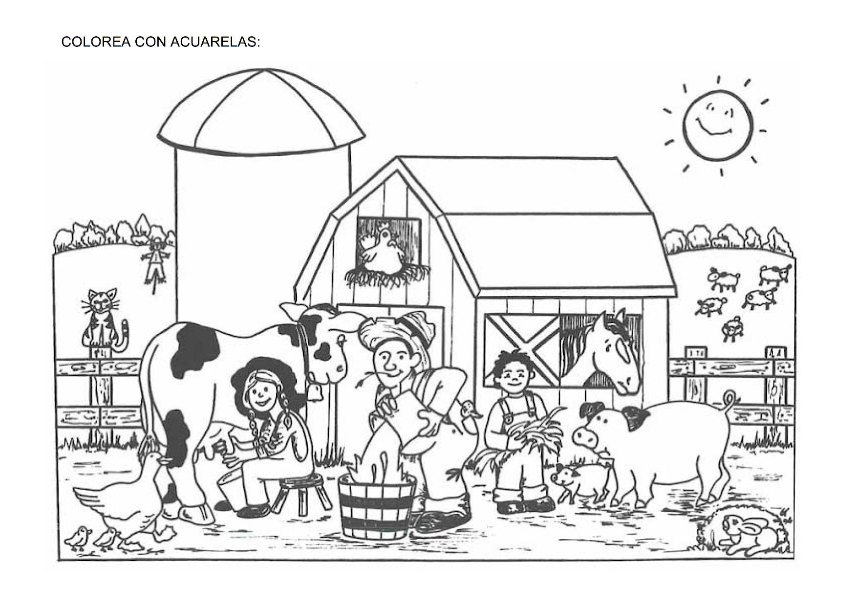 la granja, animales granja, fichas granja, recursos para el aula,