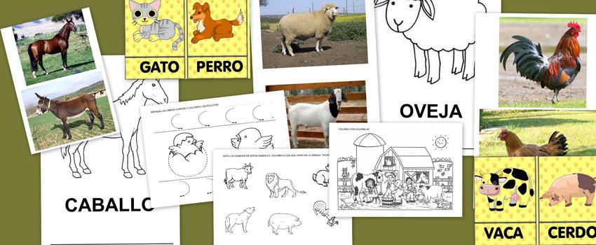La Granja, dibujos para colorear