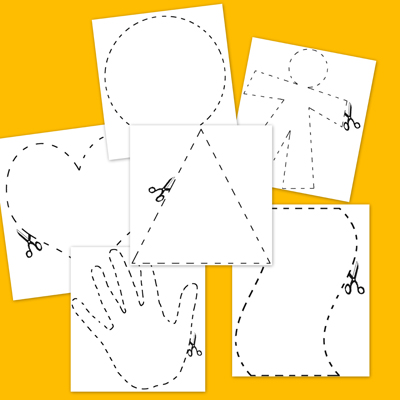 psocomotricidad fina, recortar, dibujos para colorear, fichas infantil