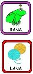 RANA LANA 68x150 Recursos para el Maestro: Fichas para mejorar el vocabulario vocabulario recursos para maestros recursos para el aula RECURSOS EDUCATIVOS recursos didacticos letras lenguaje leer lectura hablar escuela en la nube educacion infantil blog educativo