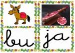 bu ja 150x107 Tarjetas silábicas para trabajar en Educación Infantil vocabulario silabas recursos para maestros recursos para el aula RECURSOS EDUCATIVOS recursos didacticos letras leer lectura fichas de lengua escuela en la nube educacion infantil blog educativo aprender a leer