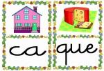 ca que 150x103 Tarjetas silábicas para trabajar en Educación Infantil vocabulario silabas recursos para maestros recursos para el aula RECURSOS EDUCATIVOS recursos didacticos letras leer lectura fichas de lengua escuela en la nube educacion infantil blog educativo aprender a leer