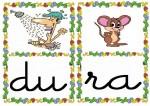 du ra 150x106 Tarjetas silábicas para trabajar en Educación Infantil vocabulario silabas recursos para maestros recursos para el aula RECURSOS EDUCATIVOS recursos didacticos letras leer lectura fichas de lengua escuela en la nube educacion infantil blog educativo aprender a leer