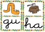 gu ha 150x107 Tarjetas silábicas para trabajar en Educación Infantil vocabulario silabas recursos para maestros recursos para el aula RECURSOS EDUCATIVOS recursos didacticos letras leer lectura fichas de lengua escuela en la nube educacion infantil blog educativo aprender a leer