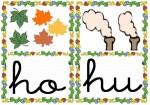 ho hu 150x105 Tarjetas silábicas para trabajar en Educación Infantil vocabulario silabas recursos para maestros recursos para el aula RECURSOS EDUCATIVOS recursos didacticos letras leer lectura fichas de lengua escuela en la nube educacion infantil blog educativo aprender a leer