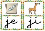 je ji 150x105 Tarjetas silábicas para trabajar en Educación Infantil vocabulario silabas recursos para maestros recursos para el aula RECURSOS EDUCATIVOS recursos didacticos letras leer lectura fichas de lengua escuela en la nube educacion infantil blog educativo aprender a leer