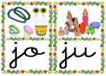 jo ju 150x107 Tarjetas silábicas para trabajar en Educación Infantil vocabulario silabas recursos para maestros recursos para el aula RECURSOS EDUCATIVOS recursos didacticos letras leer lectura fichas de lengua escuela en la nube educacion infantil blog educativo aprender a leer