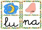 lu na 150x108 Tarjetas silábicas para trabajar en Educación Infantil vocabulario silabas recursos para maestros recursos para el aula RECURSOS EDUCATIVOS recursos didacticos letras leer lectura fichas de lengua escuela en la nube educacion infantil blog educativo aprender a leer