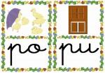 po pu 150x105 Tarjetas silábicas para trabajar en Educación Infantil vocabulario silabas recursos para maestros recursos para el aula RECURSOS EDUCATIVOS recursos didacticos letras leer lectura fichas de lengua escuela en la nube educacion infantil blog educativo aprender a leer