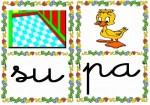 su pa 150x105 Tarjetas silábicas para trabajar en Educación Infantil vocabulario silabas recursos para maestros recursos para el aula RECURSOS EDUCATIVOS recursos didacticos letras leer lectura fichas de lengua escuela en la nube educacion infantil blog educativo aprender a leer